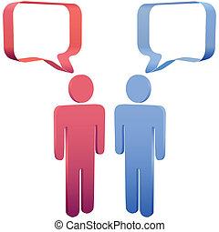 emberek, média, beszéd, társadalmi, panama, beszél, 3