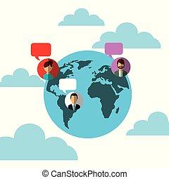 emberek, média, földgolyó, beszéd, társadalmi, világ, panama