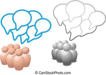 emberek, média, jelkép, beszéd, társadalmi, panama, beszél
