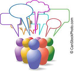 emberek, média, jelkép, beszéd, társadalmi, panama