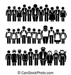emberek, munkás, csoport