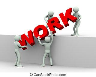 emberek, munka, -, 3, fogalom