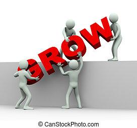 emberek, -, növekedés, 3, fogalom
