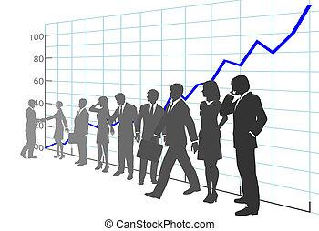 emberek, növekedés kiváltságlevél, ügy, nyereség, befog
