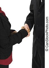 emberek, remegő, ügy kezezés