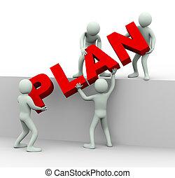 emberek, szó, munka, terv, 3, állás