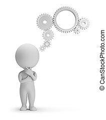 emberek, -, szerkezet, gondolkodás, kicsi, 3