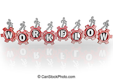 emberek, workflow, dolgozó, csapatmunka, együtt, fogaskerék-áttétel, workforce
