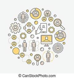 emberi találékonyság, ábra, kör alakú