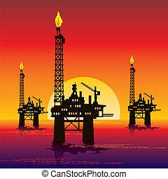 emelvény, olaj