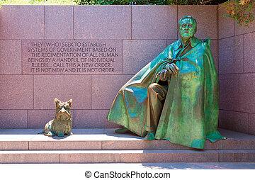 emlékmű, washington, franklin roosevelt, delano