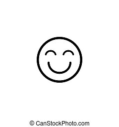 emoji, vektor, ikon, boldog