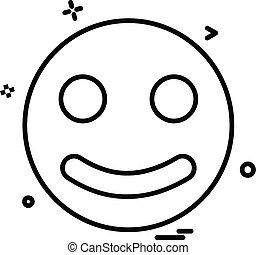 emoji, vektor, tervezés, ikon