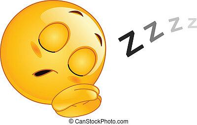 emoticon, alvás