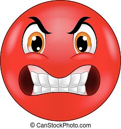 emoticon, mérges, smiley, karikatúra
