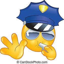 emoticon, rendőr