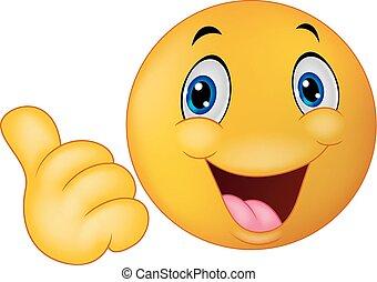 emoticon, smiley, karikatúra, givin, boldog