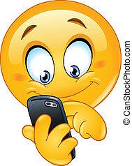 emoticon, telefon, furfangos