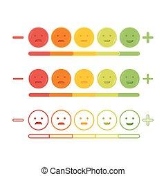 emoticon, visszacsatolás, ábra, vektor, mosoly, ikon, emoji