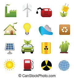 energia, állhatatos, kitakarít, ikon