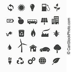 energia, állhatatos, megújítható, ikon