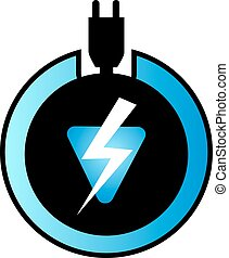 energia, elektromos, ikon