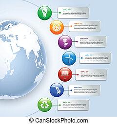 energia, zöld, infographics