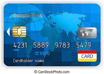 eps, hitel, elülső, 8, nézet., kártya