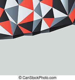 eps10, ábra, copyspace., vektor, háttér, háromszögek
