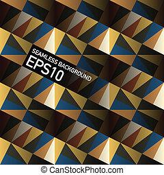 eps10, elvont, seamless, geometrikus, háttér., vektor, háromszögek