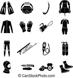 equipment., merülés, légzőkészülék