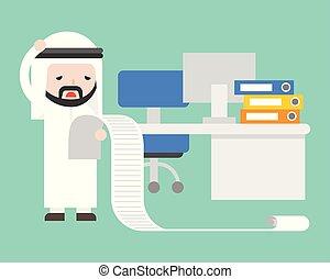 erő, hivatal, felborít, lista, hosszú, arab, üzletember, felolvasás