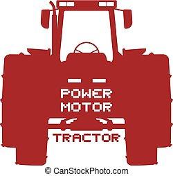 erő, jelkép, motor, traktor
