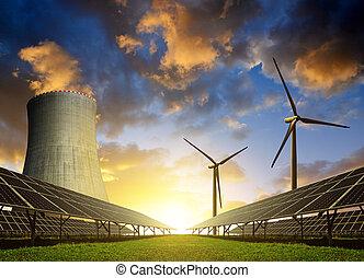 erőforrás, concept., energia