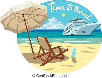 erőforrás, hajó cruise, tengerpart, óceán
