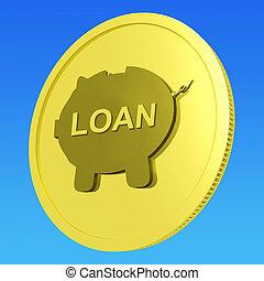 erőforrások, kölcsönad, kölcsönvevés, vagy, hitel, érme, befektetés