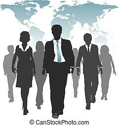 erőltet, ügy emberek, munka, emberi, világ, erőforrás