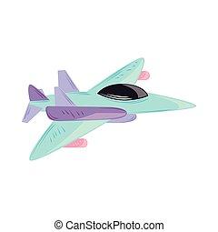 erőltet, fegyveres, repülőgép