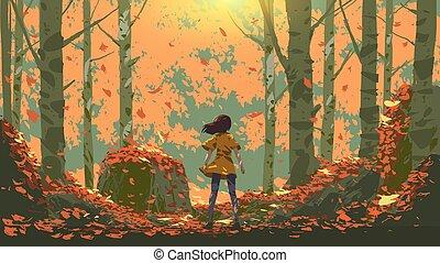 erdő, ősz, kaland
