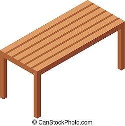 erdő, bírói szék, ikon, mód, isometric
