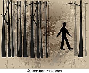 erdő, elveszett