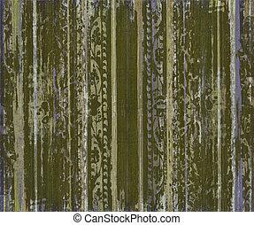 erdő, felcsavar, csíkoz, grungy, zöld, munka