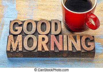erdő, kávécserje, jó, gépel, reggel