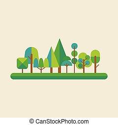 erdő, mód, lakás