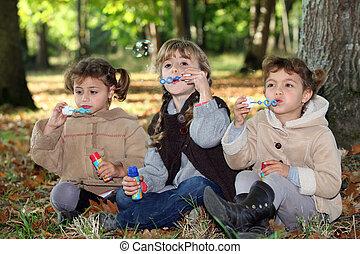 erdő, panama, fújás, young gyermekek