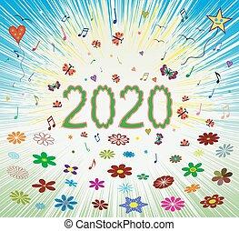 eredet, boldog, háttér, 2020, nyár, napkelte