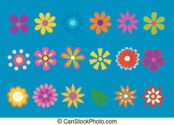 eredet, vektor, virág, ábra