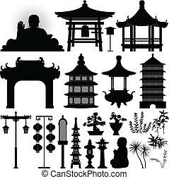 ereklyetartó, ereklye, ázsiai, kínai, halánték