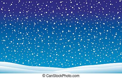 esés, tél parkosít, hó