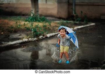eső, gyermek